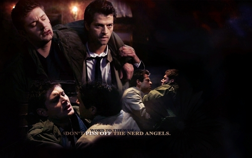 Winchester Girls wolpeyper called Dean and Castiel