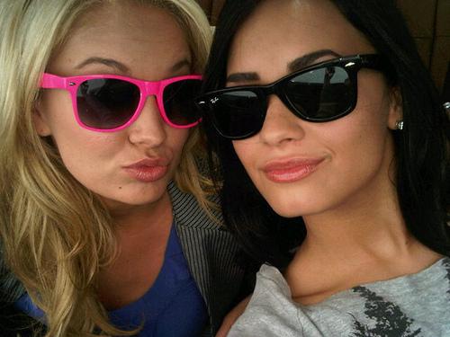 Demi & Tiffany Twitter Pic