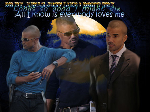 Derek Morgan Everybody Loves Me - criminal-minds Wallpaper