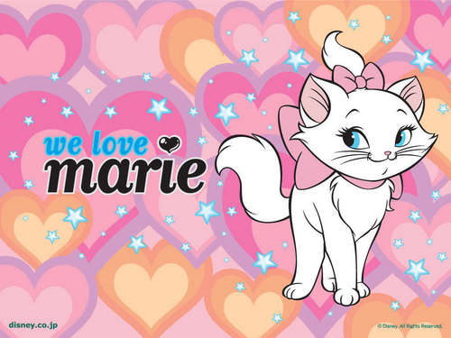 classic disney wallpaper titled Marie