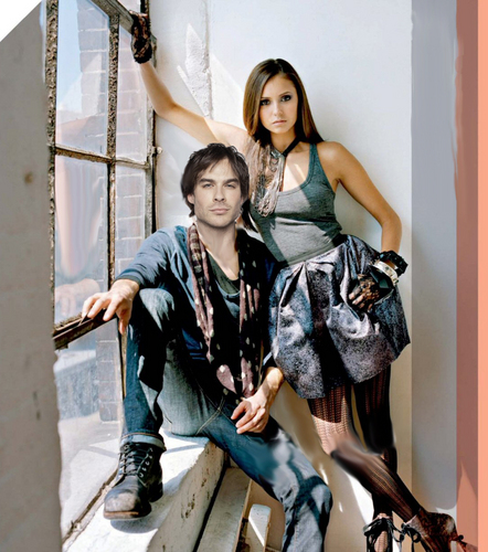The Vampire Diaries wallpaper called Elena/Damon