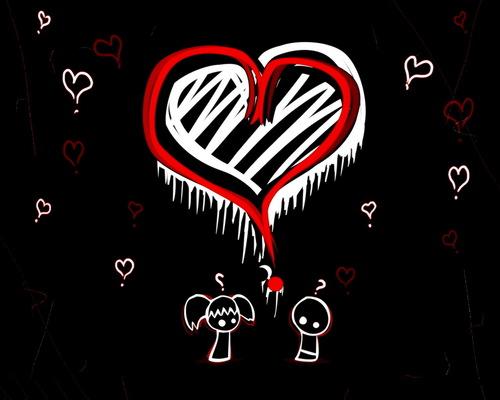 emo tình yêu hình nền