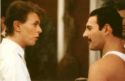 Freddie and David Bowie