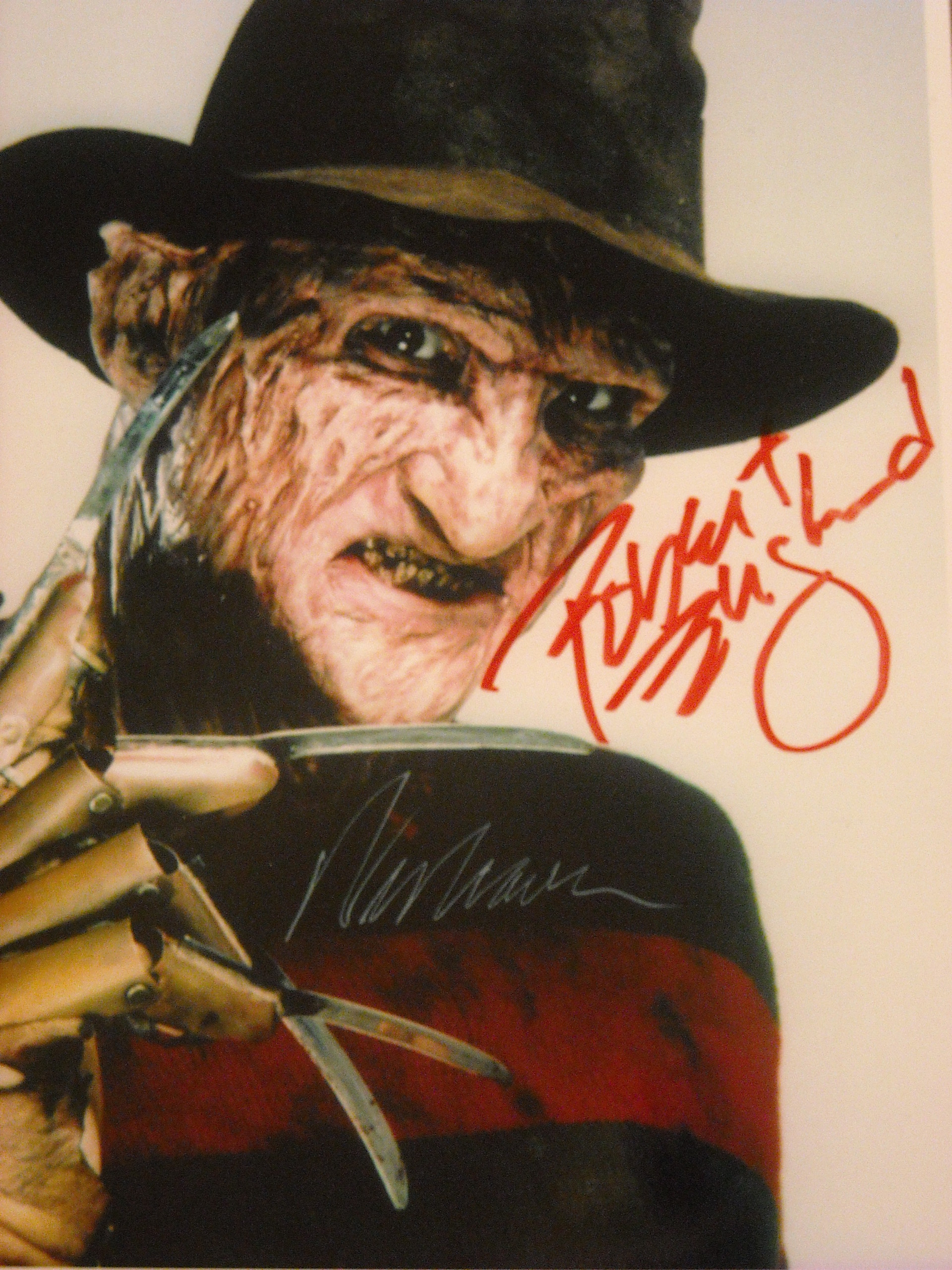 Horror movies freddy krueger autographed photo