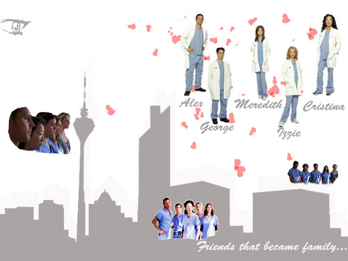 Grey's Anatomy پیپر وال titled GA <3