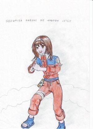 Haruhi Cosplaying As Naruto!