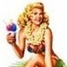 Hawaiian Hula Girl - pin-up-girls icon