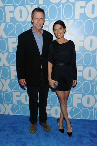 Hugh Laurie & Lisa Edelstein @ the 2010 rubah, fox Upfront After Party