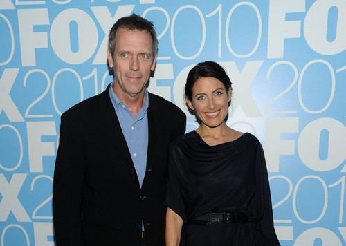 Hugh Laurie & Lisa Edelstein @ the 2010 Fox Upfront After Party