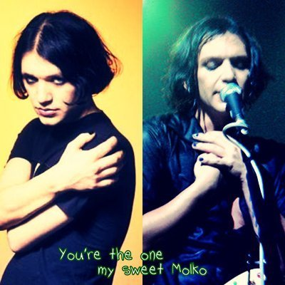 Brian Molko wallpaper called Hush!Its ok...Dry your eyes...Cause soulmates never die!