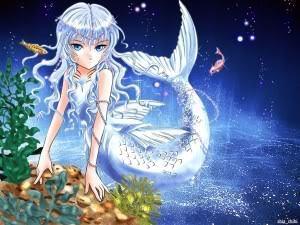 Husky as the Mermaid Princess (Colored)