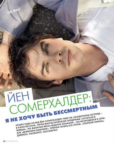Ian Somerhalder in ELLE Russia