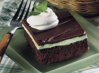 Irish chocolat Mint dessert