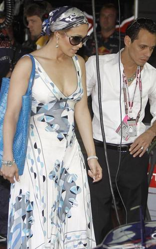Jennifer Lopez and Marc Anthony: Formula One Grand Prix Pair