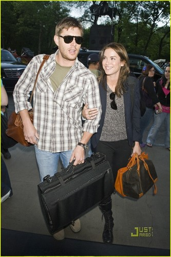 Jensen Ackles and Daneel Harris arrive at New York City Hotel 16/05/2010