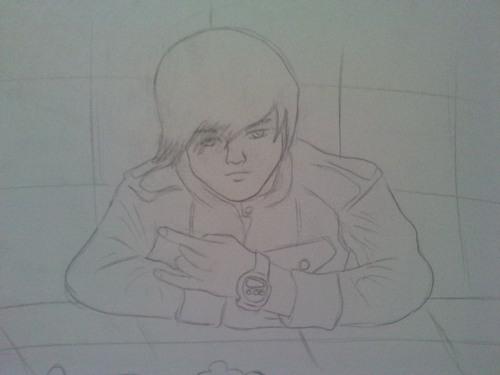 Justin Bieber draw