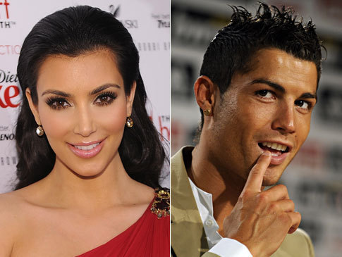 Kim Kardashian and Cristiano Ronaldo reportedly shared a ciuman during a romantic kantin, diner in Los Angeles