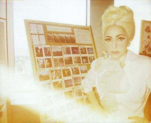 Lady GaGa Polaroid Portraits