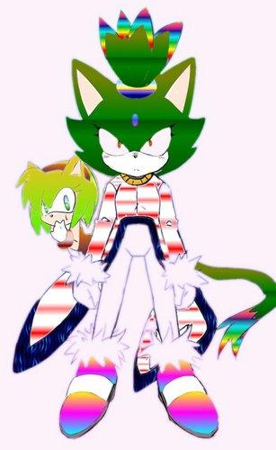 Blaze the Cat karatasi la kupamba ukuta entitled Lee the Cat and Anabell the hedgehog