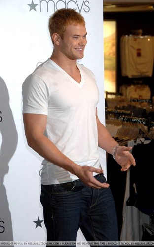 plus Pics: Kellan promoting Calvin Klein X Underwear At Macy's