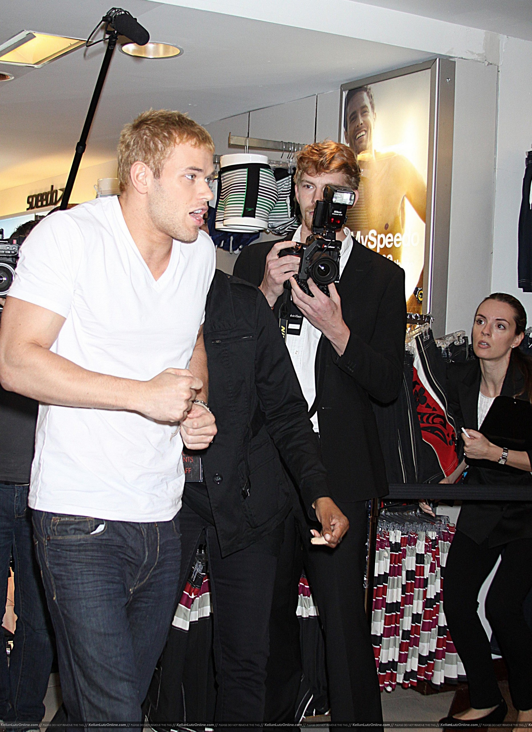 zaidi Pics: Kellan promoting Calvin Klein X Underwear At Macy's