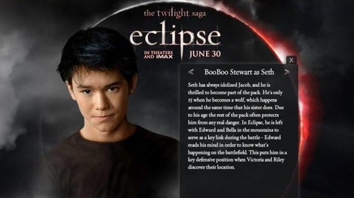 la saga Twilight fond d'écran called New Eclipse pic of Seth