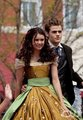 Nina and Paul as Stefan and Elena