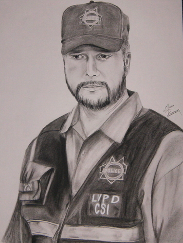 Pencil Drawing of Grissom