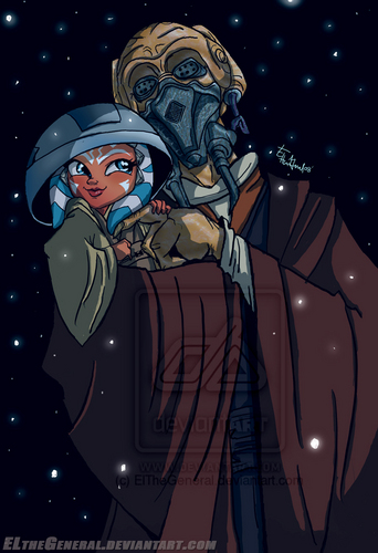 Plo Koon and Ahsoka, the pic that inspired a Фан Fic I made