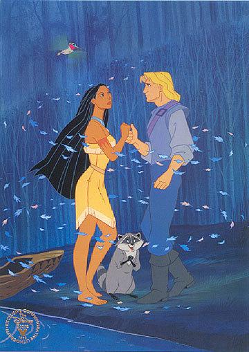 Disney Couples Pocahontas and John Smith