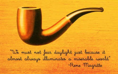 Fine Art Hintergrund entitled Rene Magritte Quote