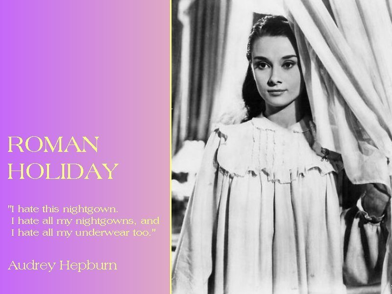 audrey hepburn roman holiday 14-03-2012  all of the blair waldorf as audrey hepburn talks yesterday made me realize that it's about time for another installation of fashion in films, audrey hepburn classics.