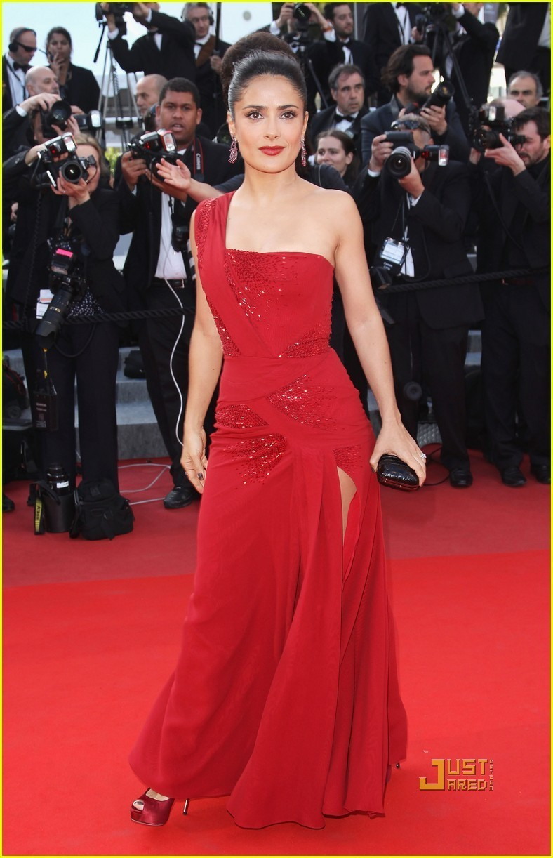 Сальма хайек в платье