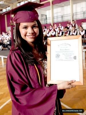 "Selena Gomez Graduates High School ""2010"""