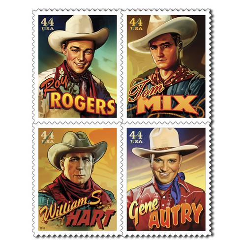 Silver Screen Cowboys Postage Stamp