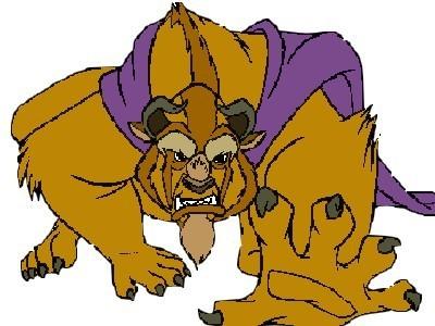 Disney Prince Hintergrund called The Beast / Adam