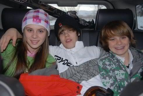 caitlin beadles,justin bieber and chritian beadles