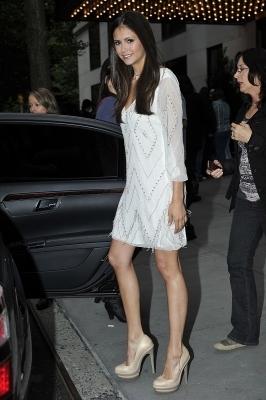 Paul Wesley & Nina Dobrev seen leaving their hotel in NYC- May 19