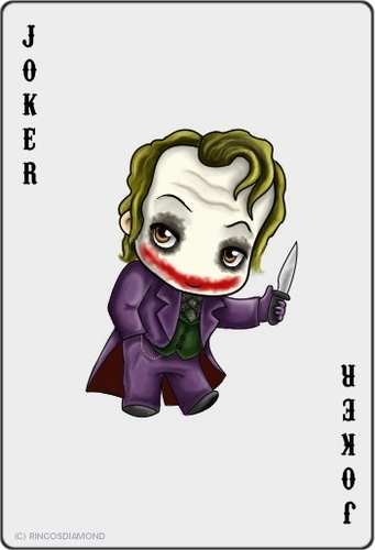 The Joker kertas dinding titled A Cute Joker Card