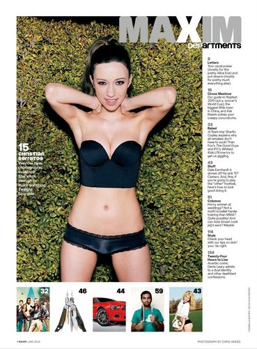 Christian Serratos fond d'écran called Christain Serratos in Maxim Magazine