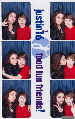 Christian Beadles & vrienden at Justin Bieber's 16th Bday