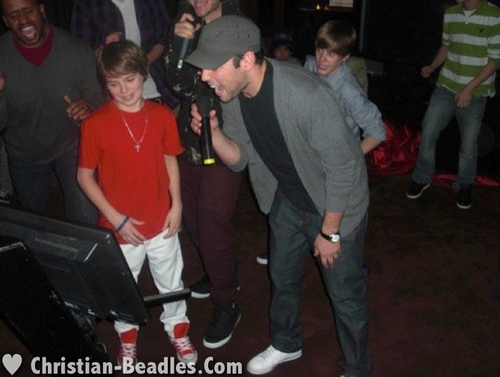 Christian Beadles & friends at Justin Bieber's 16th Bday