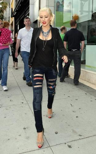 Christina out in Beverly Hills