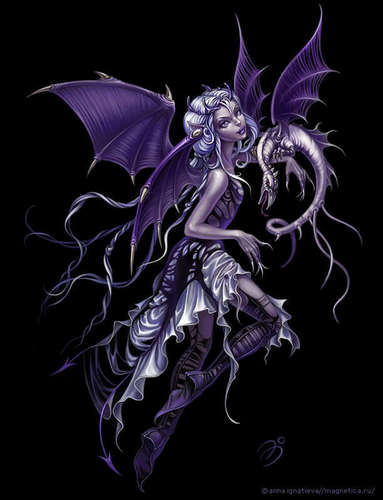 Purple Dragon Fairie