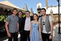 Emma Watson, Matt Lewis, Phelps twins & Robbie Coltrane visit Harry Potter theme park  - fred-and-george-weasley photo