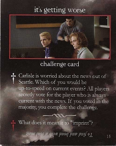 Emmett and Rosalie on 'Eclipse' Cards