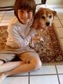 Greyson and His Dog Macy