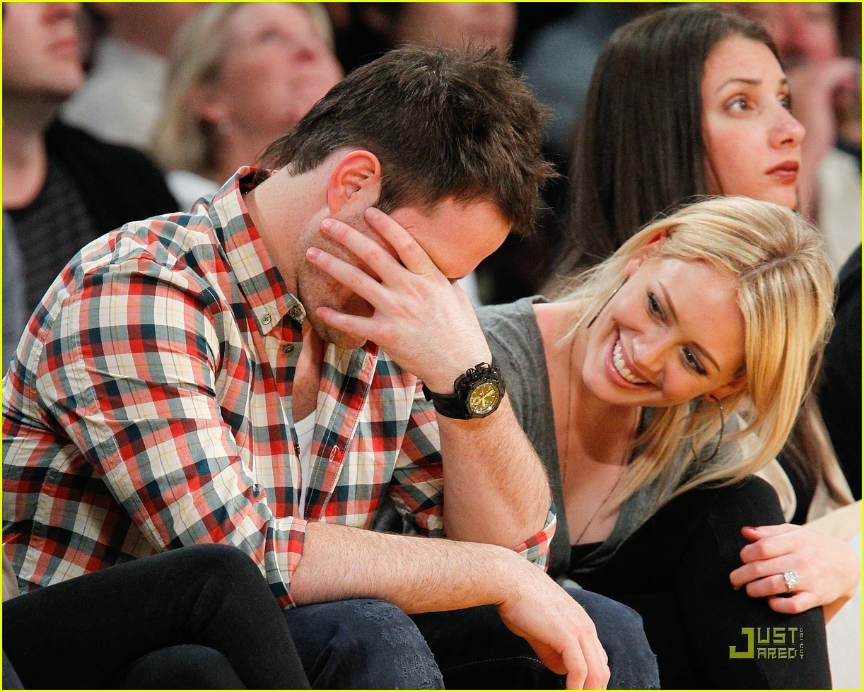Hilary & Mike @ LA Lakers Game - hilary-duff photo