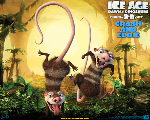 Ice Age 3 wallpaper of Eddie and Crash
