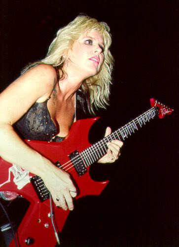 Lita playing live